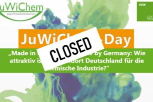 JuWiChem-Day 2020: Anmeldung geschlossen!